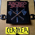 Sacred Steel sword & axes official woven patch