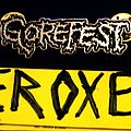 gorefest logo pin / badge