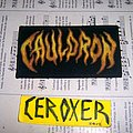 cauldron woven patch