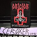 Deicide - Patch - DEICIDE biblebasher embroidered patch