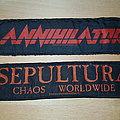 Annihilator & Sepultura - Superstripe - Patches