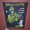 Megadeth - So Far So Good So What - vintage backpatch version I