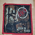 Slayer - Reign In Blood - patch red border