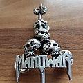 Manowar - Sword And Skulls - vintage pin Pin / Badge