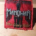 Manowar - Patch - Manowar - Into Glory Ride - red border patch