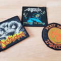 Anthrax, Destruction and D.R.I. - patches for Tired and Dead