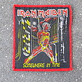 Iron Maiden - Somewhere In Time - red border patch