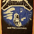 Metallica - Ride The Lightning - vintage fan-club red border backpatch