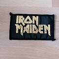 Iron Maiden - Patch - Iron Maiden - Golden logo vtg patch
