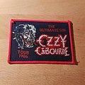 Ozzy Osbourne - Patch - Ozzy Osbourne - The Ultimate Sin Tour 1986 - red border patch