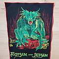 Flotsam And Jetsam - Patch - Flotsam And Jetsam - Doomsday For The Deceiver - red border backpatch