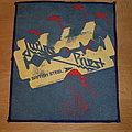Judas Priest - British Steel - blue border mini backpatch