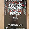 Vader - Other Collectable - Rise Of The Empire Europe 2017 - tour poster