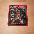 Iron Maiden - Patch - Iron Maiden - Somewhere In Time - vintage red border patch