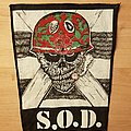 S.O.D. - Patch - S.O.D. - Speak English Or Die - vintage backpatch