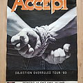 Accept - Other Collectable - Accept - Objection Overruled Tour 1993 - poster