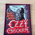 Ozzy Osbourne - Patch - Ozzy Osbourne - Bark At The Moon - burgundy border patch