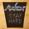 Raven - Stay Hard - vintage backpatch