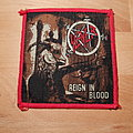 Slayer - Reign In Blood - vintage red border patch