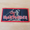 Iron Maiden - Patch - Iron Maiden - Run To The Hills - red border patch