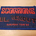 Scorpions - Blackout European Tour '82 - vintage blue border patch
