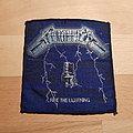 Metallica - Patch - Metallica - Ride The Lightning - blue border patch