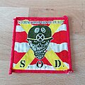S.O.D. - Patch - S.O.D. - Stormtroopers Of Death - red/yellow version patch
