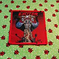 Exciter - Patch - Exciter - Long Live The Loud - red border patch