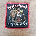 Motörhead - Patch - Motörhead - Orgasmatron - vintage red border patch