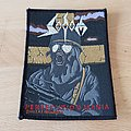Sodom - Persecution Mania - vintage GOLD HELMET patch