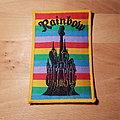 Rainbow - Castle - vintage yellow border Patch