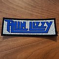 Thin Lizzy - blue glitter logo - vintage patch