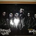 Motionless in White signed poster Mayhem Festival Other Collectable