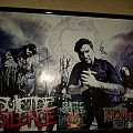 Suicide Silence signed poster and CD booklet