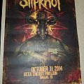 Slipknot Prepare For Hell Tour poster from Dallas, Tx