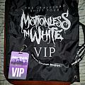 Motionless in White VIP cinch bag and laminate/lanyard from Graveyard Shift tour Other Collectable