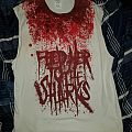 Feed Her To The Sharks blood spatter sleeveless shirt