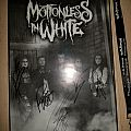 Motionless In White signed poster Graveyard Shift tour Other Collectable
