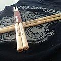 """MARDUK - signature drumsticks, """"Viktoria Europa"""" tour."""