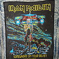 """Iron Maiden - Patch - Iron Maiden """"Somewhere On Tour 86/87"""" Back Patch Copyrights 1986"""