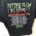 Obituary slowly we rot 30 year anniversary tour shirt