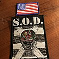 S.o.d speak English or die and America flag patches