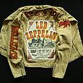 Led Zeppelin - Battle Jacket - Led Zeppelin EARLS COURT TICKETS denim rocker jacket
