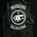 Watain leather biker vest waistcoat Battle Jacket