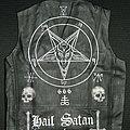Black Metal - Battle Jacket - Satanic Hand Painted Leather Vest