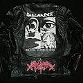 Sarcofago / Discharge hand painted custom leather jacket