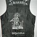 Shining leather vest