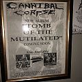 "Cannibal Corpse ""Tomb Of The Mutilated"" Promo Poster"