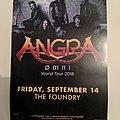 Angra - The Foundry, Philadelphia 2018 Omni world tour mini poster