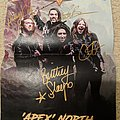 """Unleash The Archers - Other Collectable - Unleash the Archers - """"Apex"""" 2018 North America tour mini poster (signed)"""